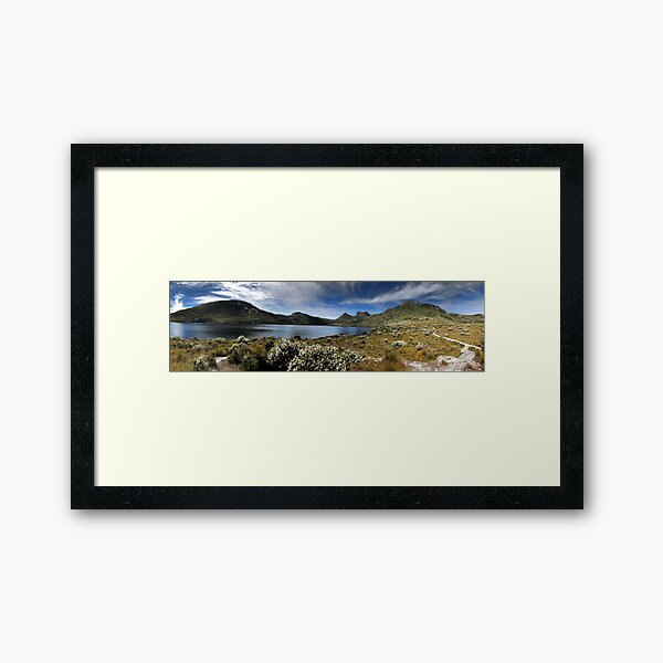 Cradle Mountain pano Framed Art Print