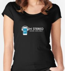 In Stereo Where Available Fitted Scoop T-Shirt