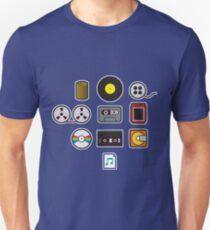 Portable Sound Icons Slim Fit T-Shirt