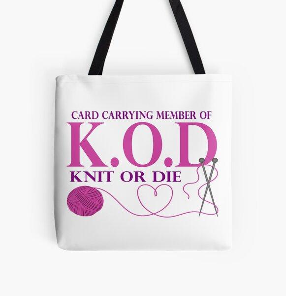 Knit Or Die All Over Print Tote Bag