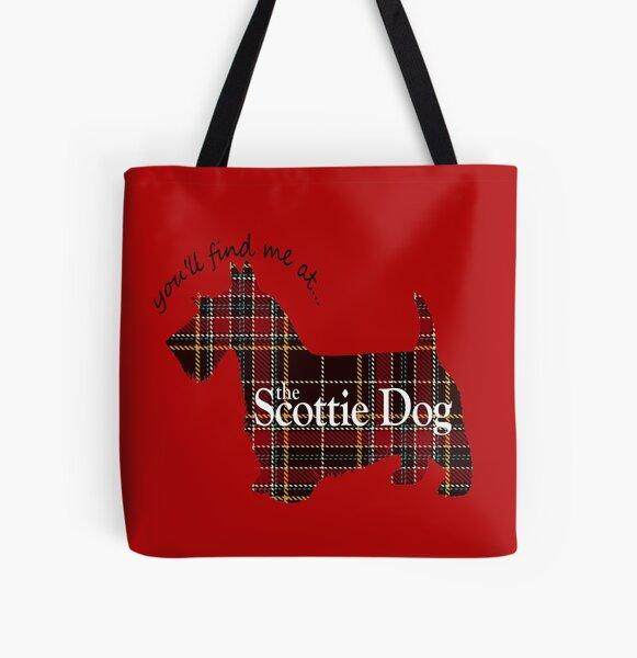 Tartan Scottie Dog All Over Print Tote Bag