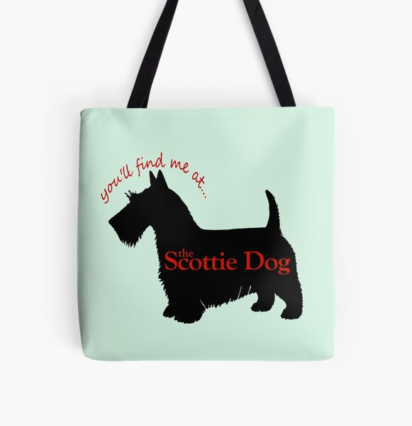 Scottie Dog pub logo All Over Print Tote Bag