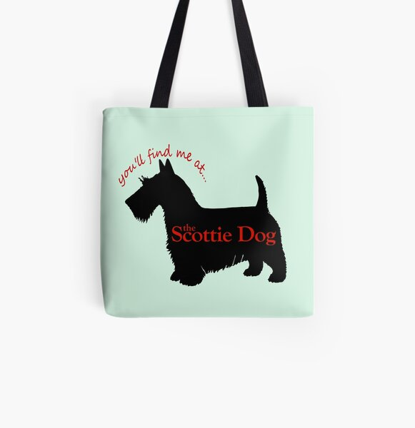 Scottie Dog pub logo All Over Print Tote Bag