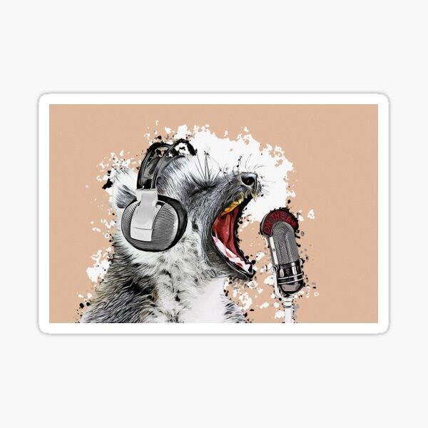 Singing Lemur Sticker