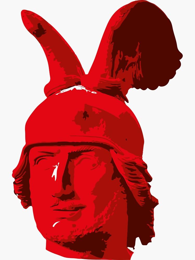 Kopf des Hermannsdenkmals - mehrfarbig von flomei242