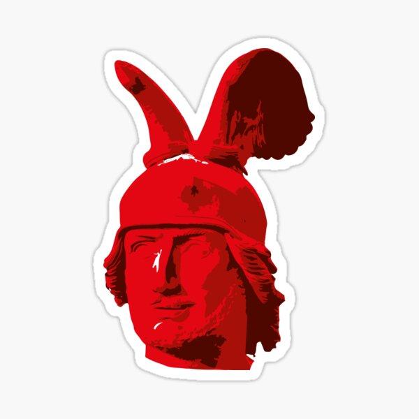 Kopf des Hermannsdenkmals - mehrfarbig Sticker