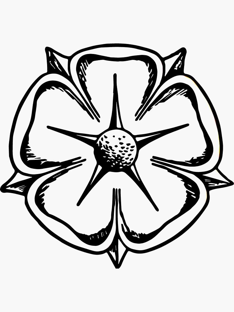 Lippische Rose - Schwarz Weiß von flomei242