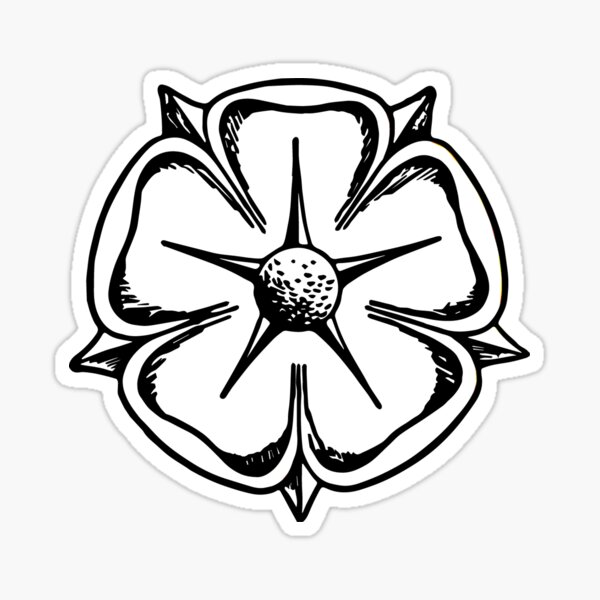 Lippische Rose - Schwarz Weiß Sticker
