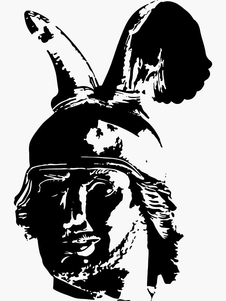 Kopf des Hermannsdenkmals - schwarz von flomei242