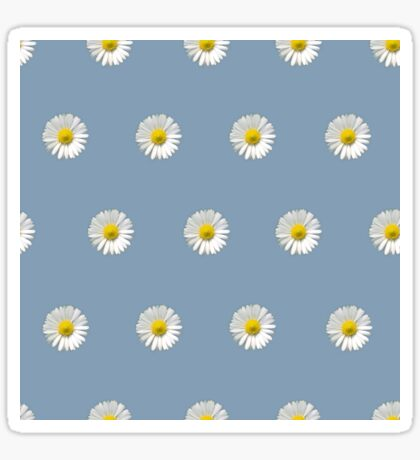 Polka Daisies (on Light Blue) Glossy Sticker