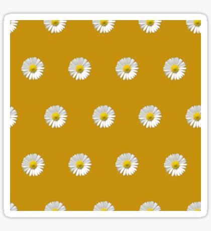 Polka Daisies (on Sunshine Yellow) Glossy Sticker