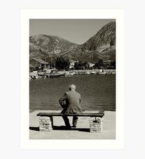 old man alone Art Print