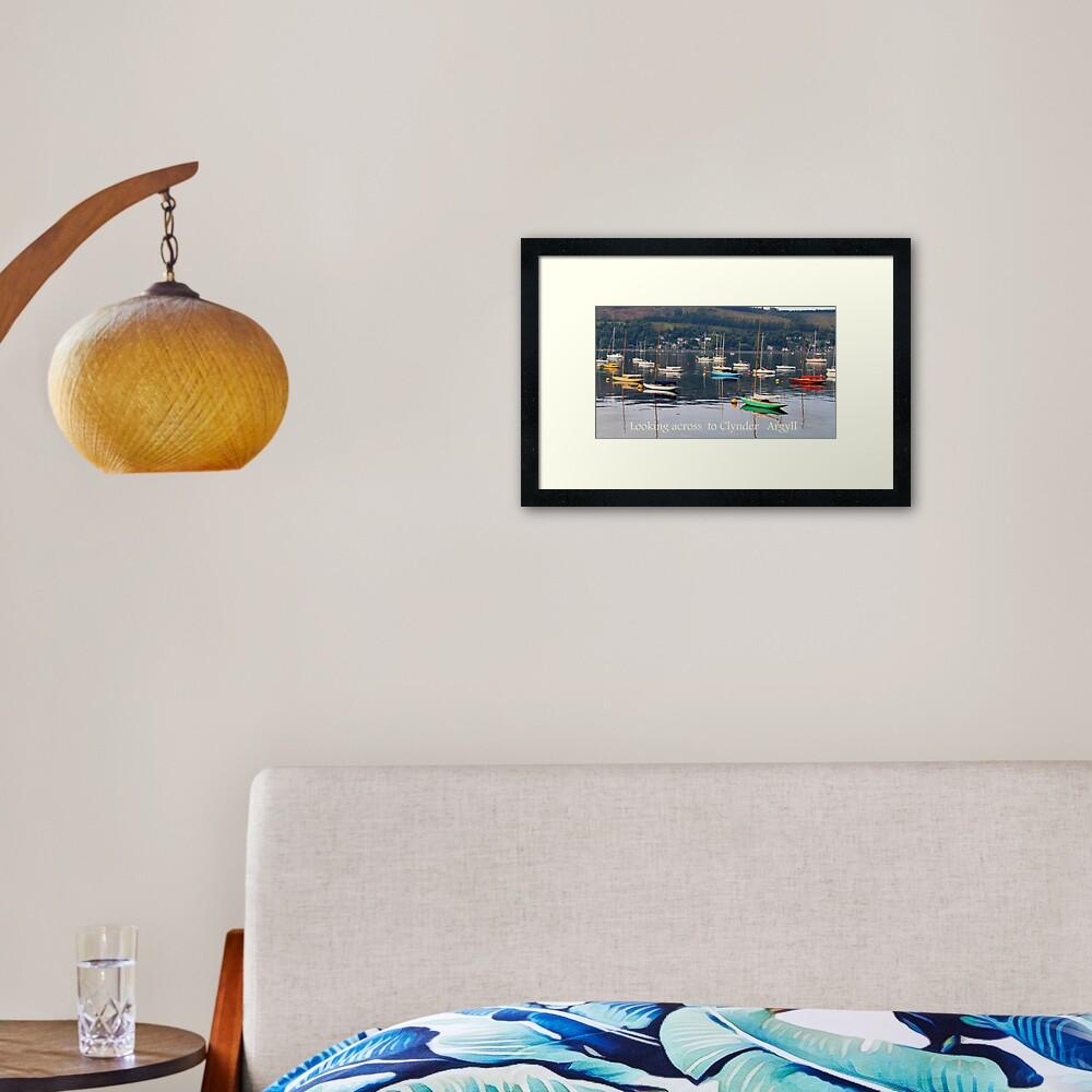 Looking towards Clynder Argyll Framed Art Print