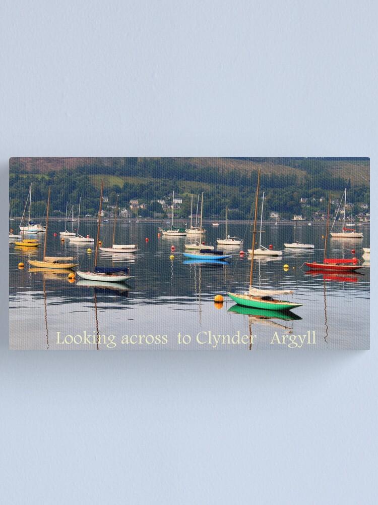 Alternate view of Looking towards Clynder Argyll Canvas Print