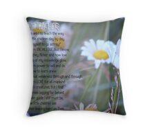 The Teacher- Inspirational Throw Pillow