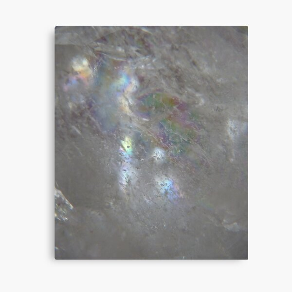 Angelic face in clear quartz Canvas Print