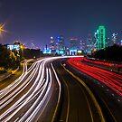 Downtown Dallas Light Trails by josephhaubert