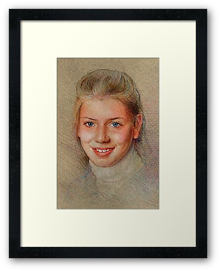 Portrait of a young woman by Rik Ward