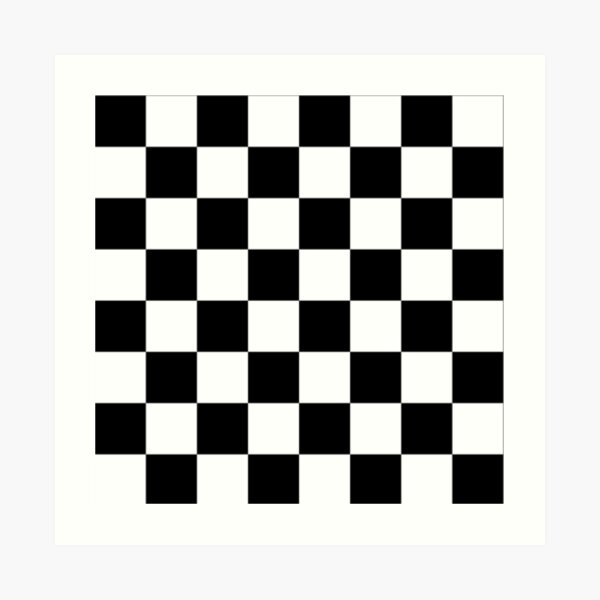 Checkered Flag Pattern Race Winner  Art Print
