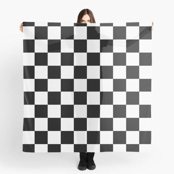Checkered Flag Pattern Race Winner  Scarf