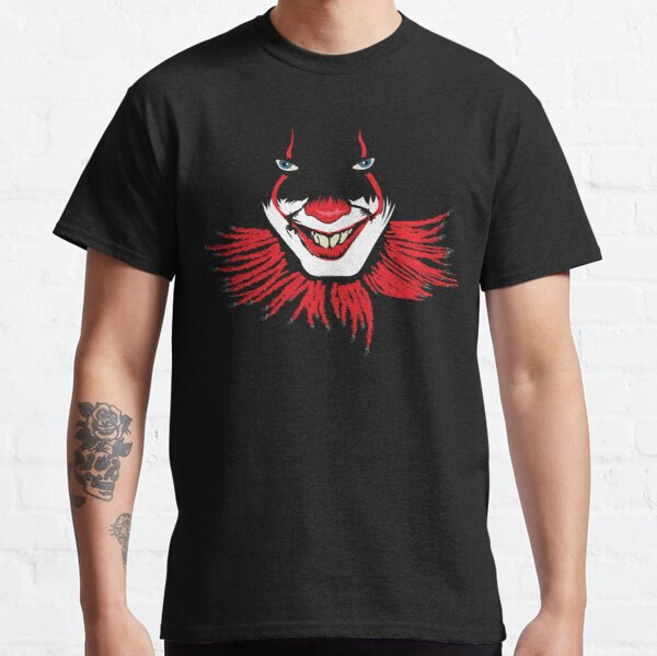 Evil Clown Halloween Scary Red Clowns  Classic T-Shirt