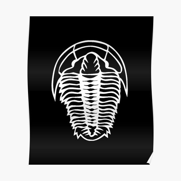 Trilobite Fossil designs | Geologist Gifts Poster