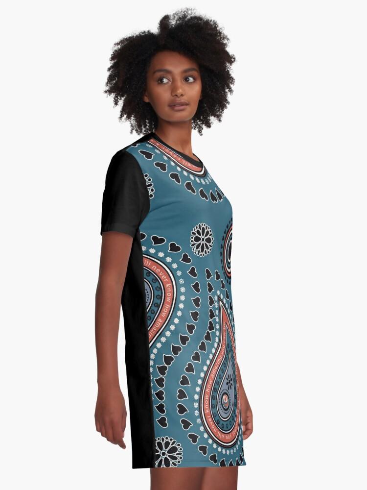 Alternate view of Paisley Hearts - Amazing Graphic T-Shirt Dress