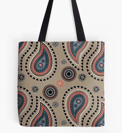 Paisley Hearts - Mink Tote Bag