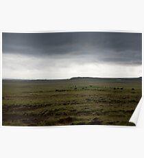 Iceland Landscape on the drive from Reykjavik to Stykkishólmur Poster