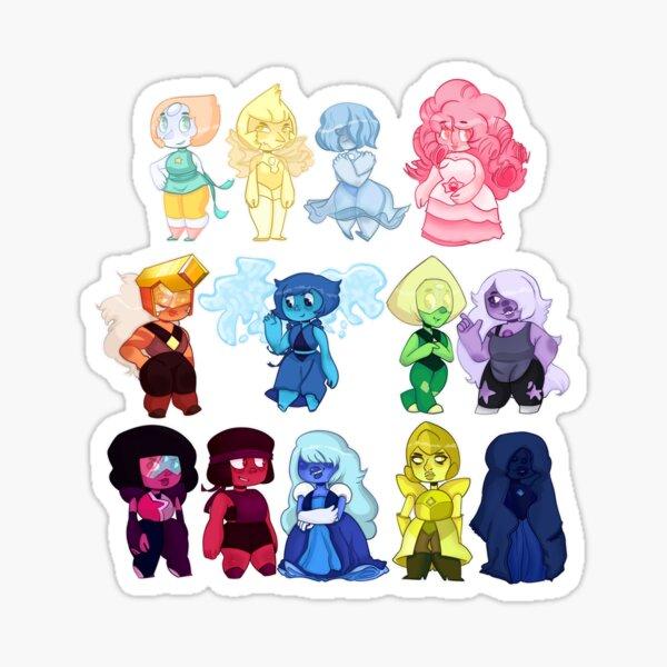 Small Chibi Steven Universe Gems Sticker