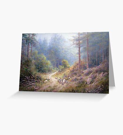 West Wood, Northumberland Greeting Card