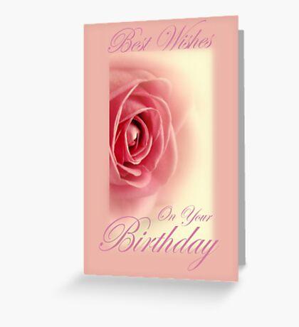 Rose Birthday Card. Greeting Card