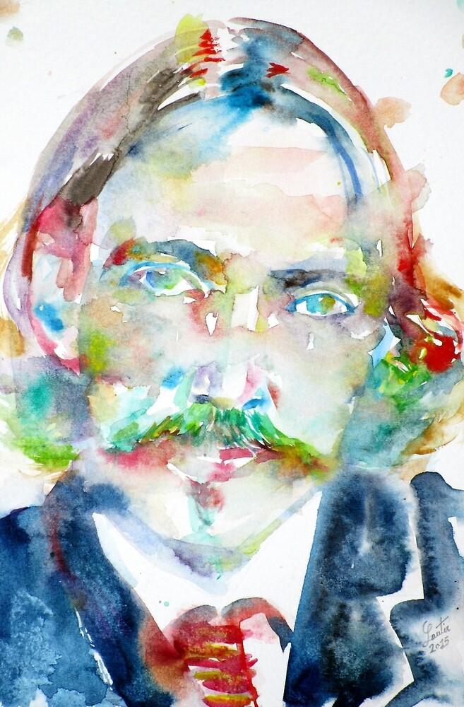 ROBERT LOUIS STEVENSON - watercolor portrait by lautir