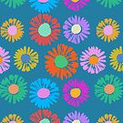 Pop Art Flowers - Daisies by BigFatArts
