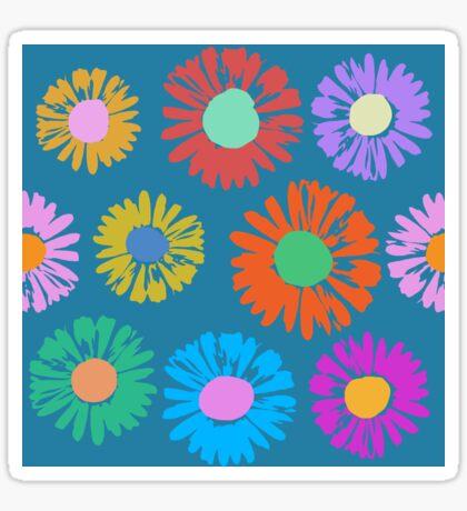 Pop Art Flowers - Daisies Glossy Sticker
