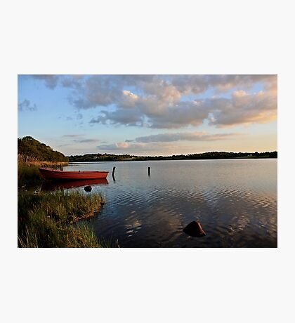 Boat at Rest Brackley Lake Photographic Print