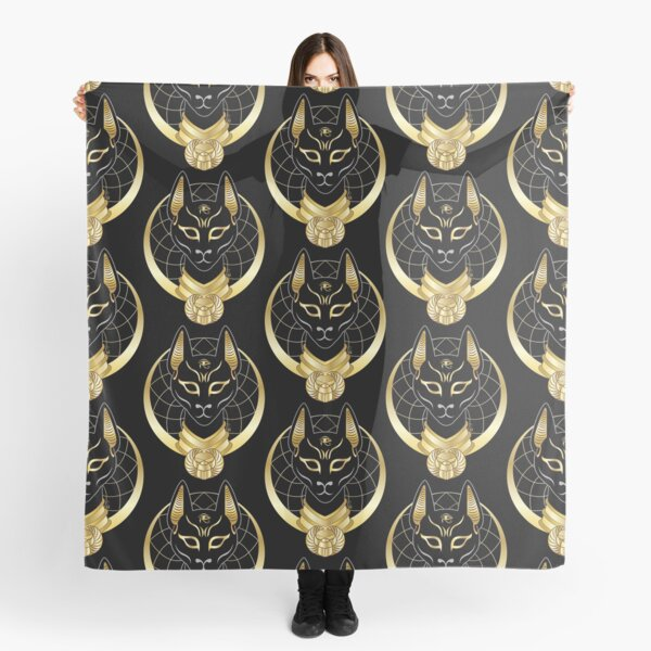 Bastet goddess golden moon Scarf