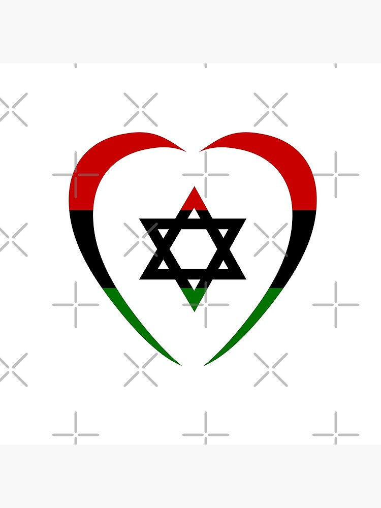 Jewish Heart Third Culture Series (Red, Black, Green)  by carbonfibreme