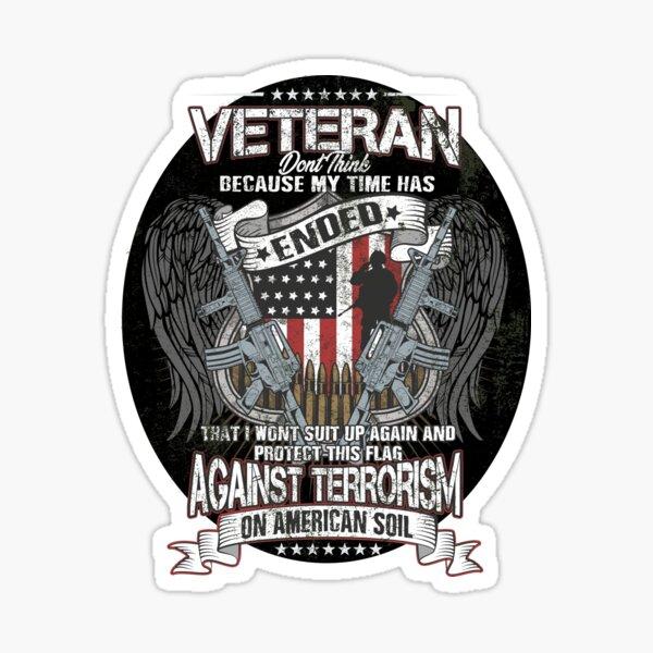 Veteran Protect This Flag Against Terrorism on American Soil  Sticker