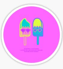 Summer Ice cream Haiku  Sticker