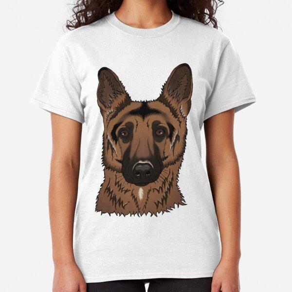 FSKH/&/& German Shepherd Womens Long-Sleeved T-Shirts Contrast Color Sweatshirt