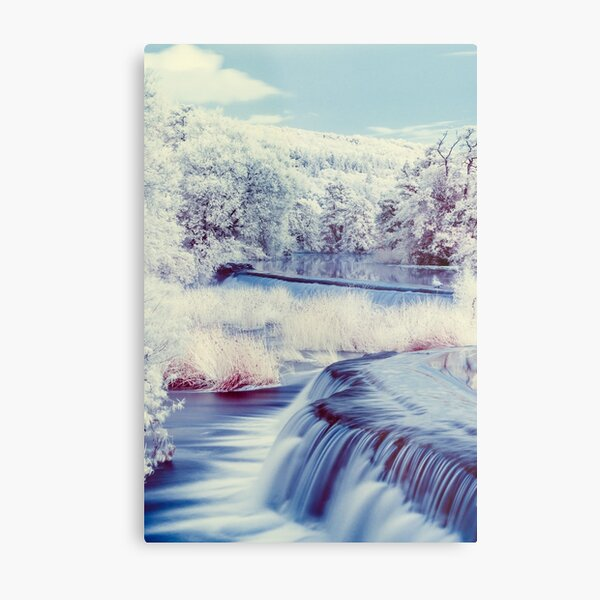 An Infrared Evening at Warleigh Weir  Metal Print