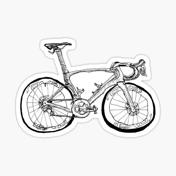 S-Works Fahrradzeichnung Sticker