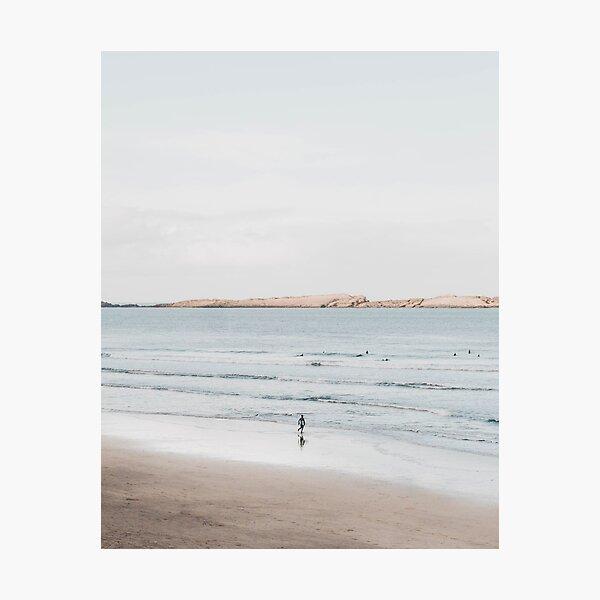 Coastal, Beach art, Blue neutral, Water, Sea, Ocean Photographic Print