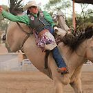 State Finals Rodeo Bareback Riding 2 by Carl M. Moore
