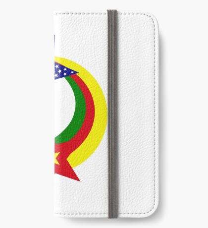 Cameroon American Multinational Patriot Flag Series iPhone Wallet