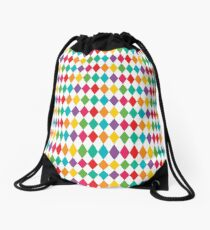 Rainbow Harlequin Pattern  Drawstring Bag