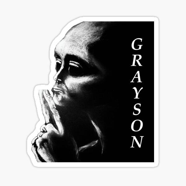 Grayson contemplating Sticker