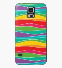 Retro Mod Rainbow Waves Coque et skin Samsung Galaxy