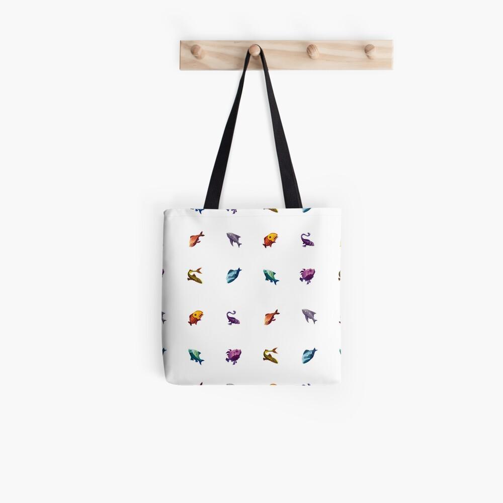 Muchos peces (blanco) Bolsa de tela